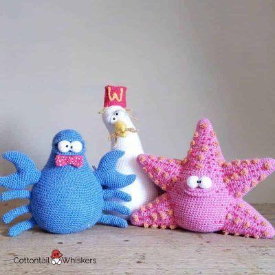 Amigurumi Crochet SeasideDoorstop BUNDLE