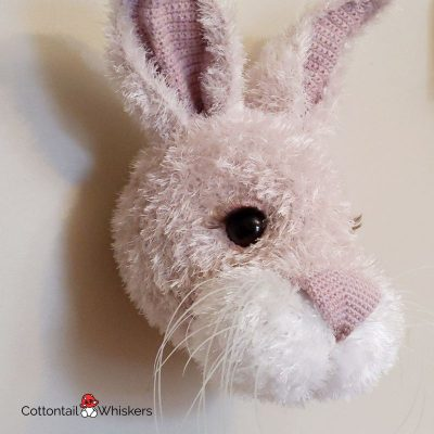Crochet bunny rabbit head pattern by cottontail and whiskers
