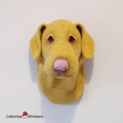 Labrador Crochet Dog Head Pattern by Cottontail and Whiskers