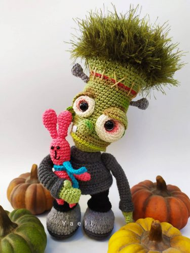 Amigurumi Crochet Frankenstein Pattern Crafters Review for Cottontail and Whiskers by Yael Elkayam