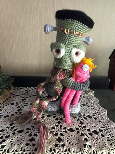 Amigurumi Crochet Frankenstein Pattern Review Free Monster for Cottontail and Whiskers by Rhea Estep
