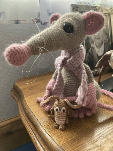 Atticus Rat And Splat Crochet Pattern Review for Cottontail and Whiskers by Teresa Barnett