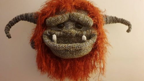 BIG Monster Trophy Head Cottontail & Whiskers Crafters Gallery Hannah-Clark