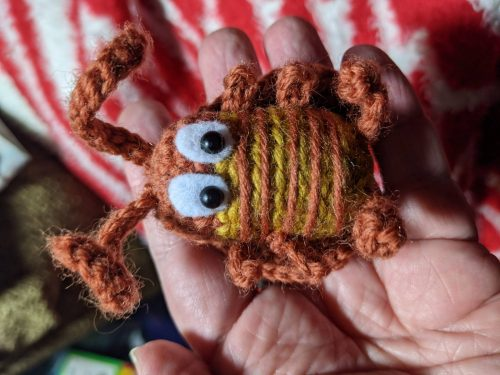 Cockroach Crochet Pattern Review for Cottontail and Whiskers by Jeannie Longfellow