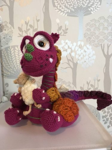 Cottontail & Whiskers Crochet Pattern Review Dougal the Dragon and Floof by Lindsay Thomson