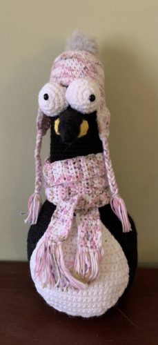 Cottontail & Whiskers Crochet Pattern Review Penguin Doorstop by Carrie