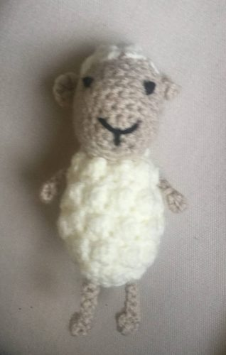 Cottontail Whiskers free sheep crochet pattern crafters review by Sally Jacobs