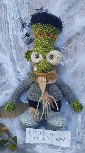 Crochet Amigurumi Frankenstein Pattern Review for Cottontail and Whiskers by Jenneke van Maurik