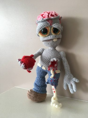Crochet amigurumi zombie pattern review for cottontail and whiskers by joanne nyberg