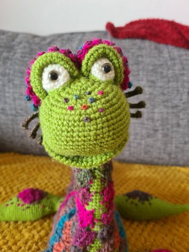 Crochet Nessie Pattern Picture Review by Jessica Brennan for Cottontail and Whiskers