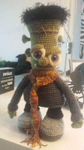 Frankenstein Amigurumi Free Monster Crochet Pattern Review for Cottontail and Whiskers by Kathrin
