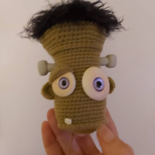 Frankenstein Crochet Pattern Review for Cottontail and Whiskers by Holly Benjamin