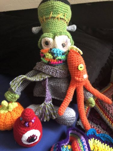 Free Crochet Monster Frankenstein Amigurumi Pattern Review for Cottontail and Whiskers by Nann-Phoenixx-Dawn