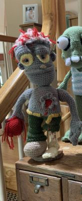 Zombie crochet amigurumi pattern photo review by mary bartz for cottontail and whiskers